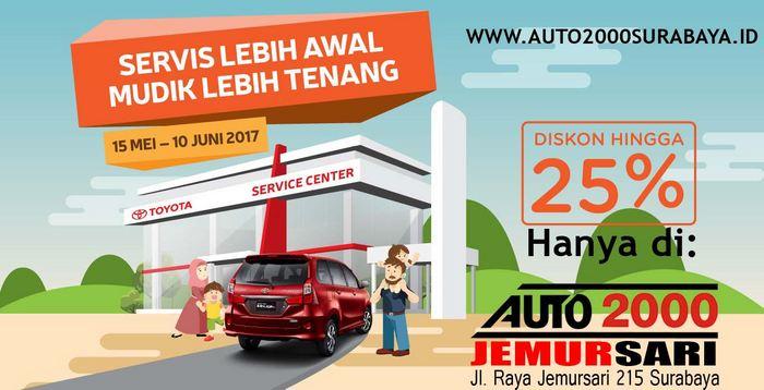Promo Servis Berkala Toyota Surabaya Auto2000 Surabaya